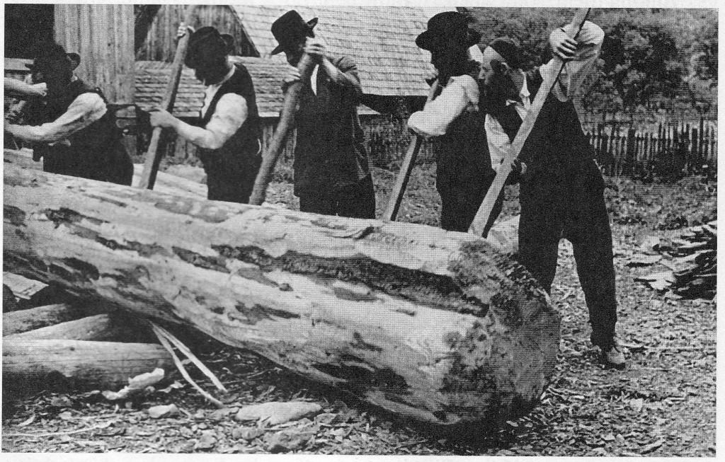 Jewish lumbermen, Ruthenia (Roman Vishniac)