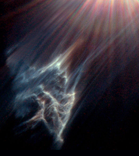 Hubble Space Telescope image of reflection nebulosity near Merope