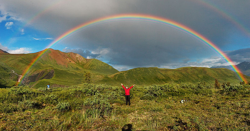 "Eric Rolph, CC-BY-SA, ""Double Alaskan Rainbow"""