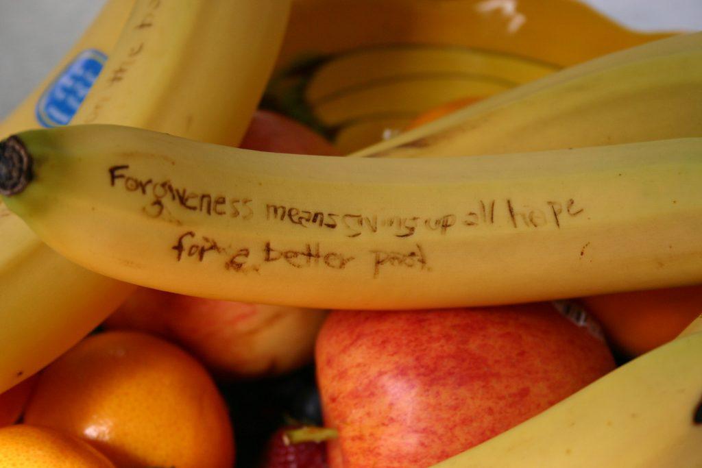 Banana Writing for Meditation? (credit: Core Jolts)