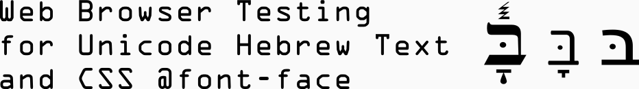 How to display Unicode Hebrew with CSS @font-face: BIDI